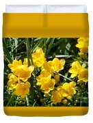 Very Sunny Yellow Flowers Duvet Cover