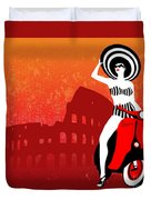 Vespa Girl Duvet Cover