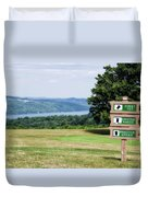 Vesper Hills Golf Club Tully New York 1st Tee Signage Duvet Cover