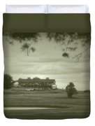 Vesper Hills Golf Club Tully New York Antique 02 Duvet Cover