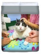 Vet Cannula Needle Injection Duvet Cover