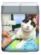 Veterinarian Cat Care Duvet Cover