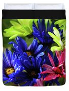 Vibrant Chrysanthemums Duvet Cover
