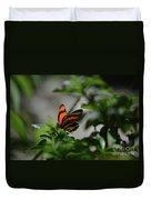 Vibrant Colors To A Orange Oak Tiger Butterfly Duvet Cover