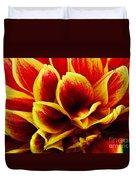 Vibrant Dahlia Petals Duvet Cover