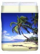 Vibrant Green Palms Duvet Cover