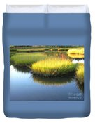 Vibrant Marsh Grasses Duvet Cover