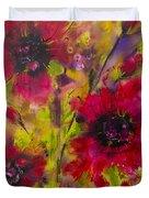 Vibrant Pink Poppies Duvet Cover