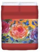 Vibrant Roses Duvet Cover