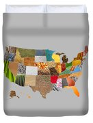 Vibrant Textures Of The United States Duvet Cover