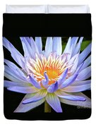 Vibrant White Water Lily Duvet Cover