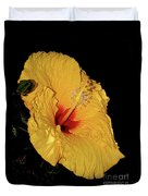 Vibrant Yellow Hibiscus By Kaye Menner Duvet Cover