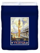 Vicenza Italy Travel Poster Duvet Cover