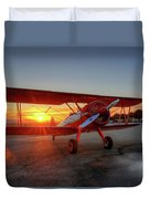 Vicky Benzings 1942 Boring Stearman At Livermore Duvet Cover