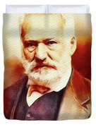 Victor Hugo, Literary Legend Duvet Cover
