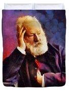 Victor Hugo, Literary Legend Duvet Cover