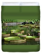 Victoria Amazonica Giant Lily Pads  Duvet Cover