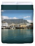 Victoria And Alfred Waterfront Duvet Cover by Oliver Johnston