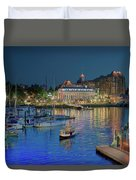 Victoria At Night Duvet Cover
