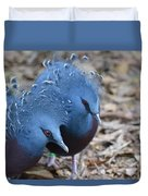 Victoria Crowned Pigeon 5 Duvet Cover