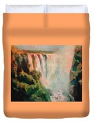 Victoria Waterfalls L B Duvet Cover