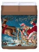 Victorian Christmas Card Duvet Cover