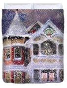 Victorian Christmas Duvet Cover