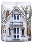 Victorian Cottage Watercolor Duvet Cover