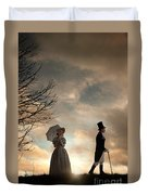 Victorian Couple Parting  Duvet Cover