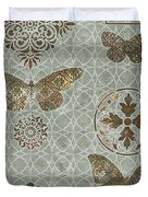 Victorian Deco Sage Duvet Cover by JQ Licensing