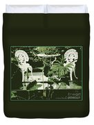 Victorian Garden Poster Duvet Cover