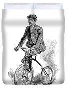 Victorian Gentleman Cycling Duvet Cover