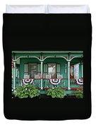 Victorian House And Garden. Duvet Cover