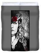 Victorian Lady Vampire Duvet Cover
