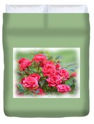 Victorian Rose Garden - Digital Painting Duvet Cover
