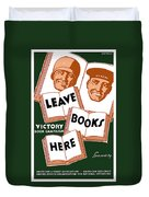 Victory Book Campaign - Wpa Duvet Cover