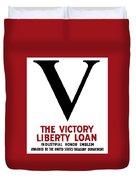 Victory Liberty Loan Industrial Honor Emblem Duvet Cover