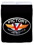 Victory Motorcycles Emblem Duvet Cover
