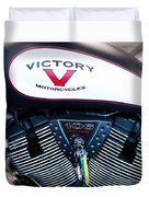 Victory Red Sq Duvet Cover