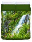 Vidae Falls, Oregon Duvet Cover