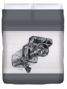 Video Camera, Vintage Duvet Cover