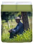 Viejo Cuidando El Ganado 1 Duvet Cover