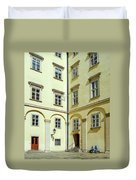 Vienna Courtyard Chat Duvet Cover