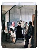 Vienna Fashion Shoot 1968 Duvet Cover