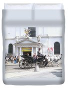 Vienna Horse And Carriage Duvet Cover
