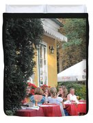 Vienna Restaurant In The Park Duvet Cover