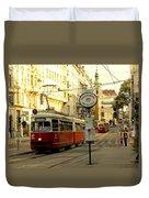 Vienna Streetcar Duvet Cover