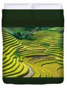 Vietnam Rice Terraces Duvet Cover