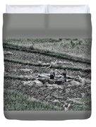 Vietnamese Rice Harvest  Duvet Cover