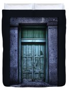 Vieux Carre' Doorway At Night Duvet Cover